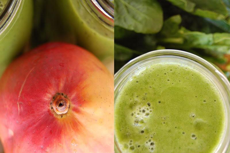 Green Smoothie: Spinach, Banana, Mango