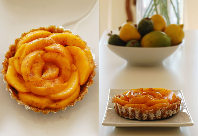 The Global Girl Raw Food Recipes: Gluten-free Raw Vegan Peach Tart
