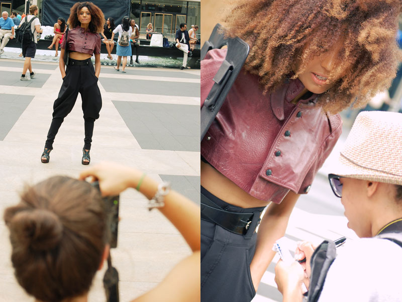 Ndoema The Global Girl is assailed by photographers as she arrives at the Lincoln Center during New York Fashion week
