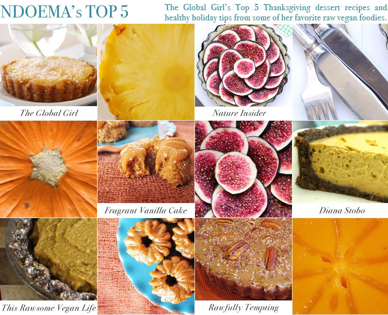 My Top 5 Thanksgiving raw vegan dessert recipes