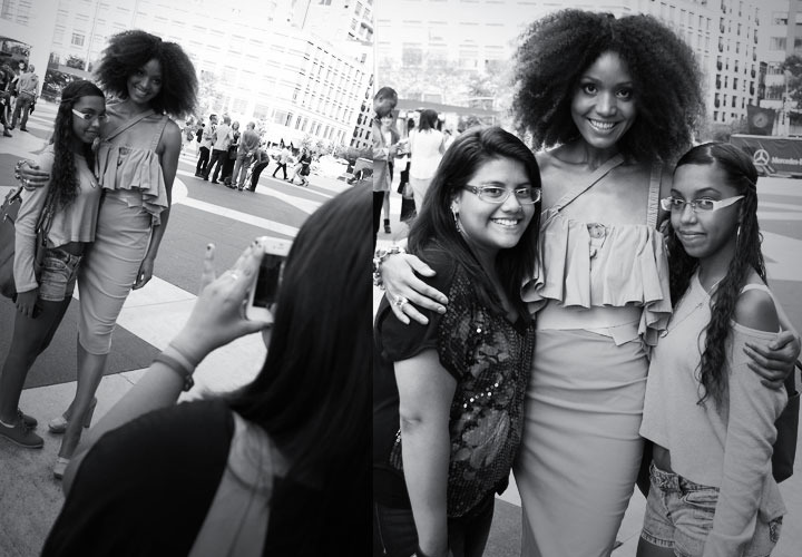 The Global Girl: Ndoema meets her fans outside the tents at New York Fashion Week