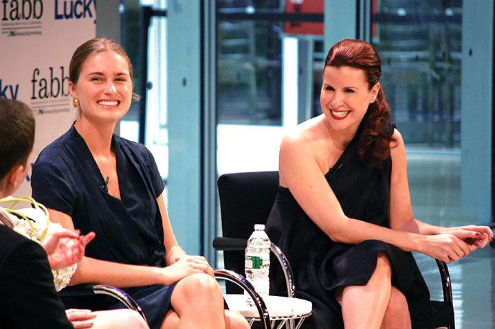 Lucky Fabb Conference: Lauren Bush and Donna Karan's Eliza Licht.