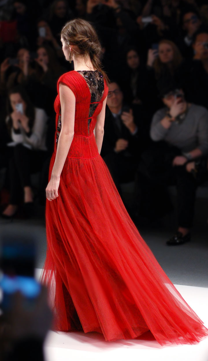 The Global Girl: Tadashi Shoji Fall 2013 Collection. New York Fashion Week runway photos.