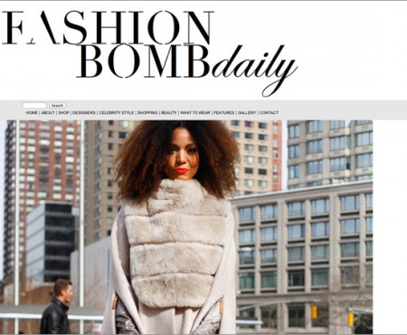 Ndoema in Fashion Bomb Daily sporting Son Jung Wan beige cape and matching high-waisted flare pants with Sergio Rossi bag - New York Fashion Week Fall 2014