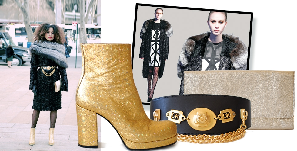 Fashion Week Style: Black 'N Gold (winter edition)