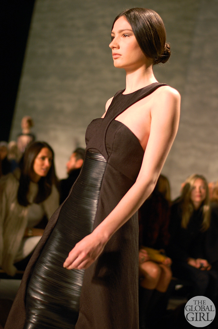 Front Row with The Global Girl at New York Fashion Week: Angel Sanchez Fall Winter 2014 Runway Collection.
