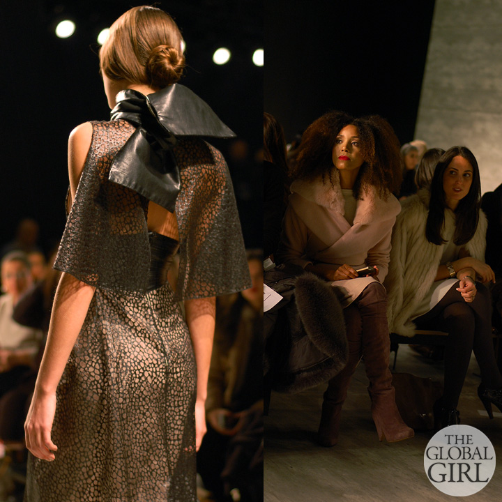 Front Row with The Global Girl at New York Fashion Week: Ndoema attends Angel Sanchez Fall Winter 2014 Runway Collection.