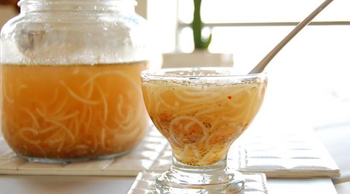 Healing Raw Probiotic Noodle Soup