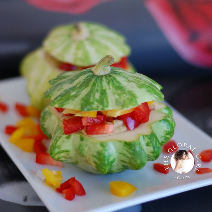 Raw stuffed baby squash the global girl raw stuffed baby squash w italian pine nuts filling forumfinder Image collections