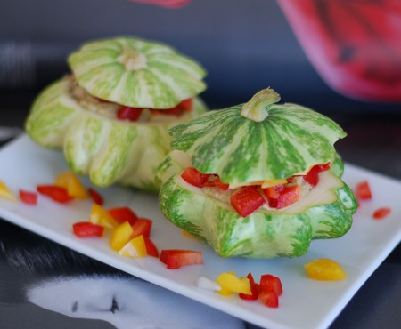 Raw Stuffed Baby Squash