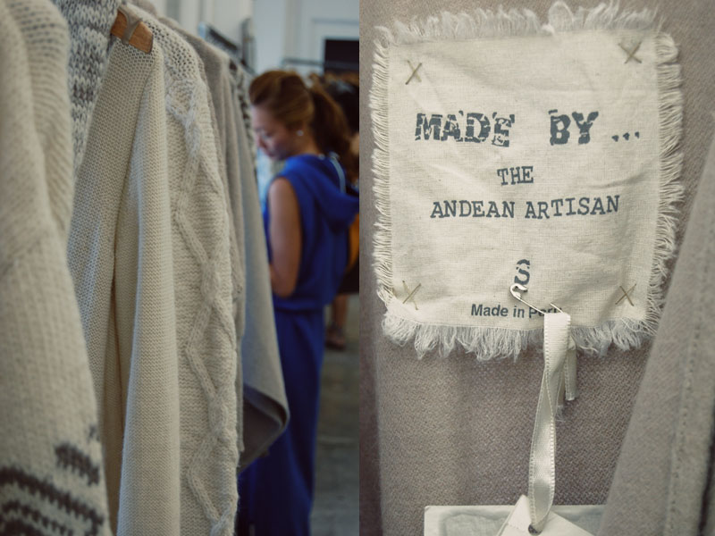 Sustainable and eco-friendly fashion line of handmade knitwear and sweaters by artisans from Peru