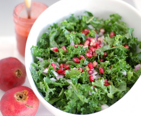 Raw Kale and Pomegranate Salad
