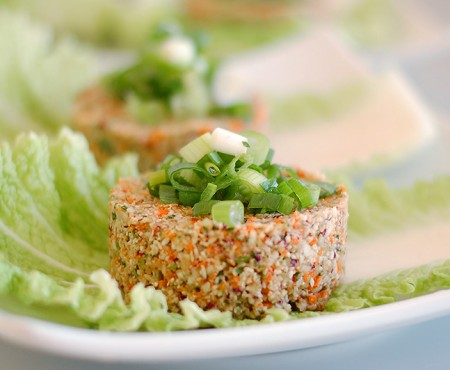 Raw Cauliflower Burgers
