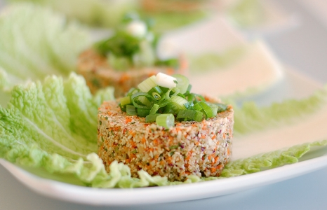 (English) Raw Cauliflower Burgers