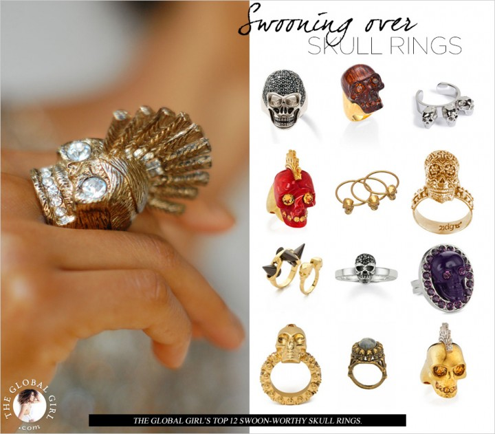 Shop With The Global Girl: Ndoema's top swoon-worthy skull rings.