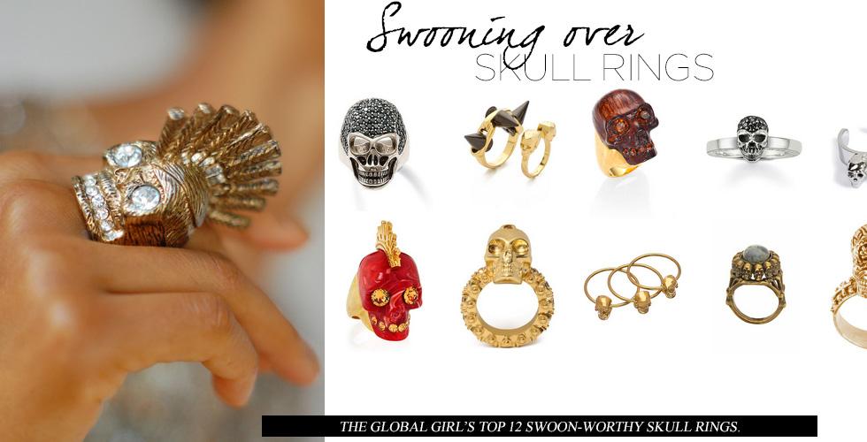 Swooning Over: Skull Rings