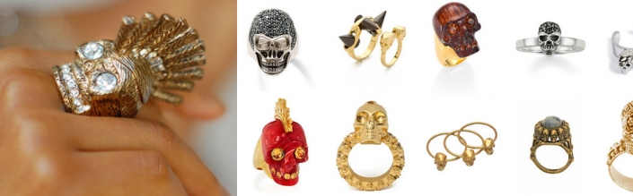 Swooning Over: Skull Rings