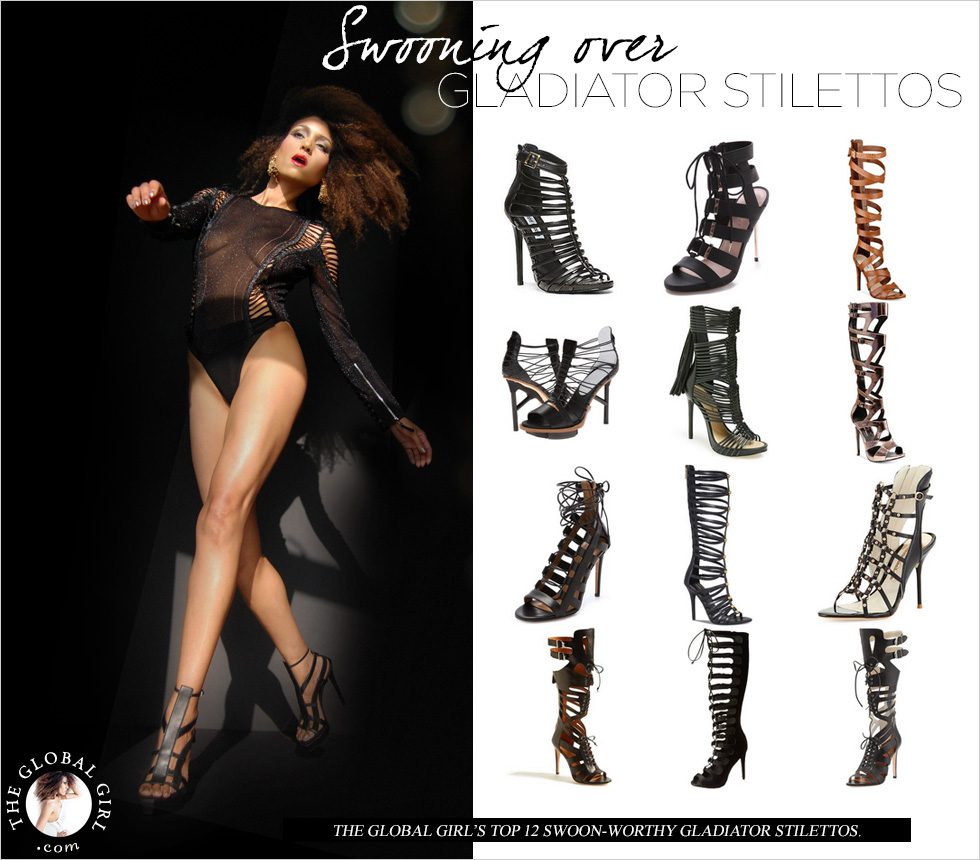 Shop With The Global Girl: Ndoema's top swoon-worthy gladiator stilettos.