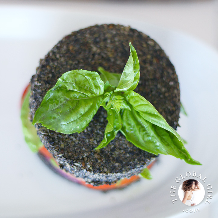 Avocado sandwich in raw black sesame Bread. This raw food recipe is 100% vegan, wheat free, gluten free, oil free and totally delicious.