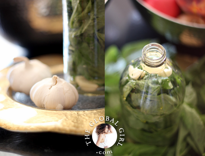 Basil and garlic infused olive oil recipe | The Global Girl