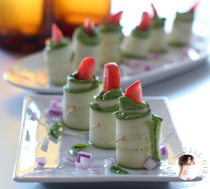 Zucchini Roll Ups With Herbed Macadamia Cheese. 100% raw, vegan, gluten free, dairy free and oil free   The Global Girl Raw Food Recipes