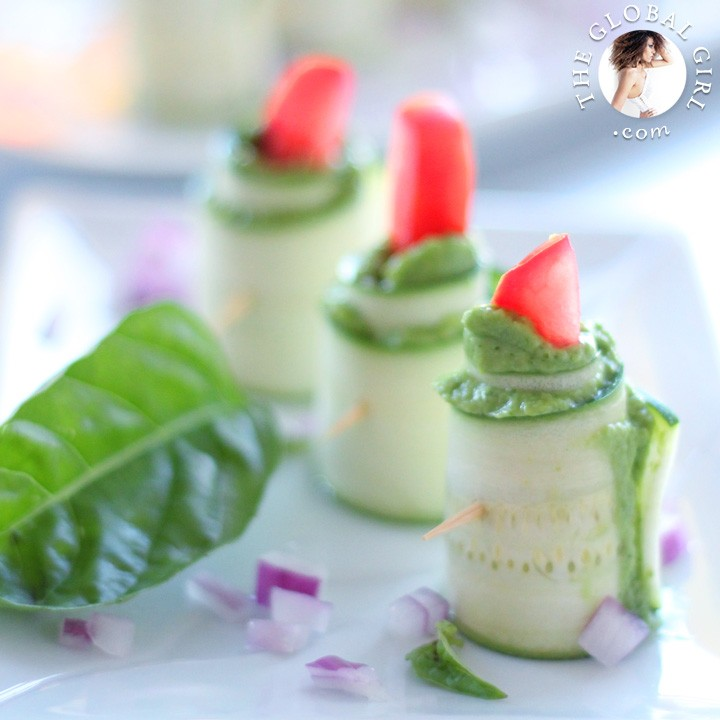 Zucchini Roll Ups With Herbed Macadamia Cheese