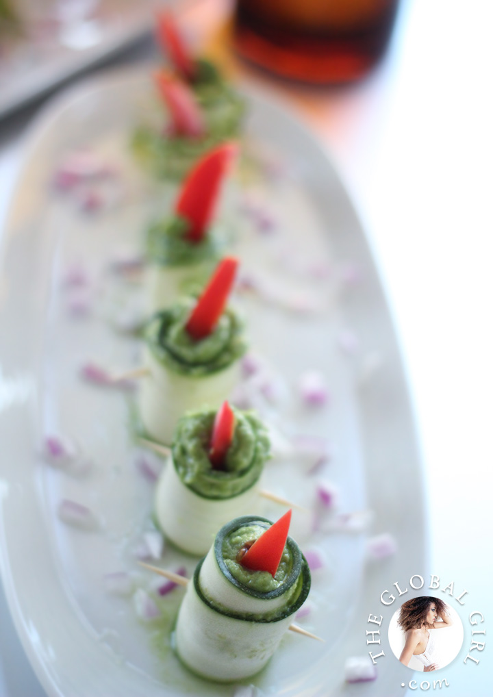 Zucchini Roll Ups With Herbed Macadamia Cheese. 100% raw, vegan, gluten free, dairy free and oil free | The Global Girl Raw Food Recipes