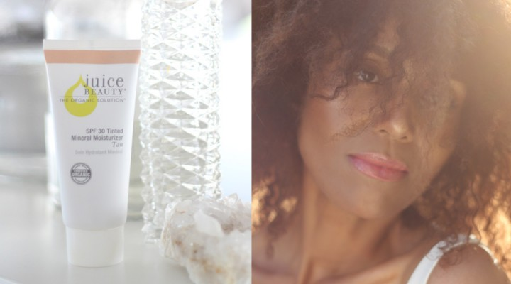 Ndoema's Beauty Pick of the Week: Juice Beauty Tinted Moisturizer. A chemical free, juice-based and 100% organic sunscreen.