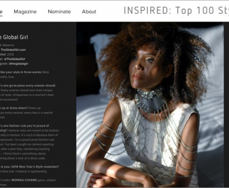 The Global Girl Press: Ndoema makes the Top 100 Style Bloggers 2014 List