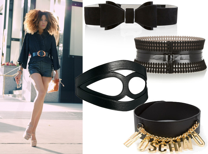 5 Ways To Style Shorts: Glam it up with a wide cinch belt.