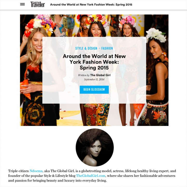 Conde Nast Traveler X The Global Girl
