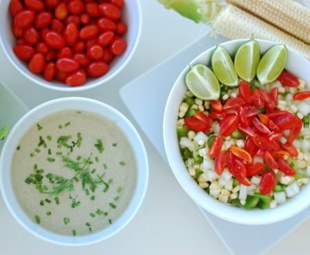 Crunchy Corn Salad & Creamy Dill Dressing