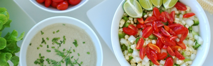 (English) Crunchy Corn Salad with Creamy Dill Dressing