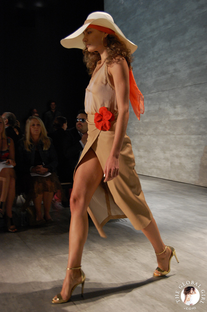 New York Fashion Week Spring Summer 2015: Front Row with The Global Girl at the Georgine runway collection presentation.