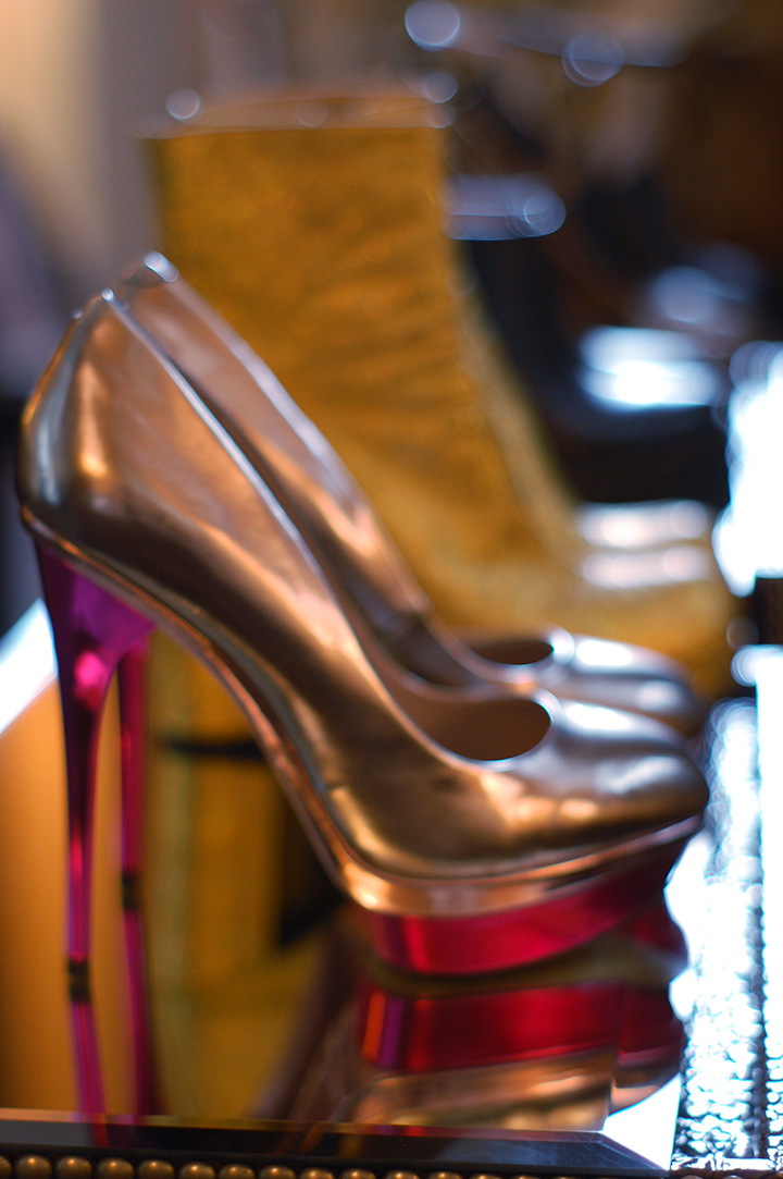 The Global Girl Daily Style: Metallic heels | Empire Hotel during New York Fashion Week Fall 2014.