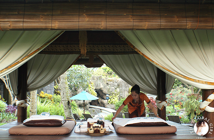 The Global Girl Travels: Outdoor spat at the Hyatt Regency Yogyakarta in Java, Indonesia.