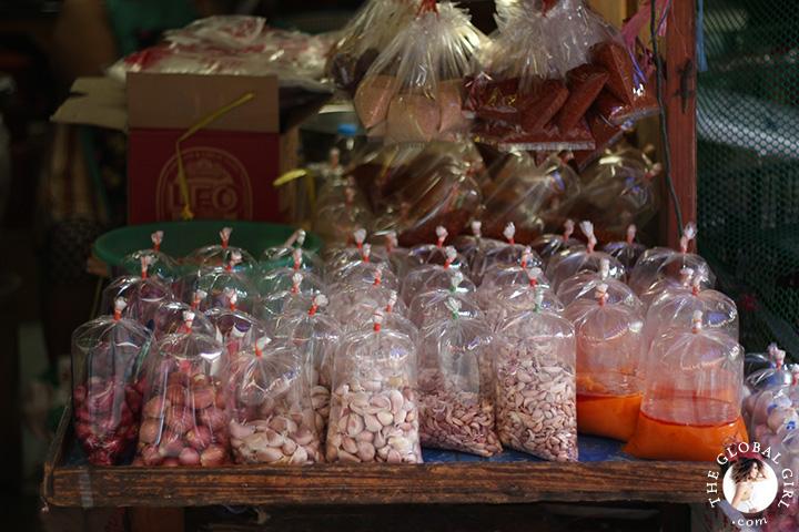 The Global Girl Travels: Shopping at Khlong Toey market in Bangkok, Thailand.