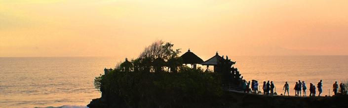 (English) Sunset at Tanah Lot