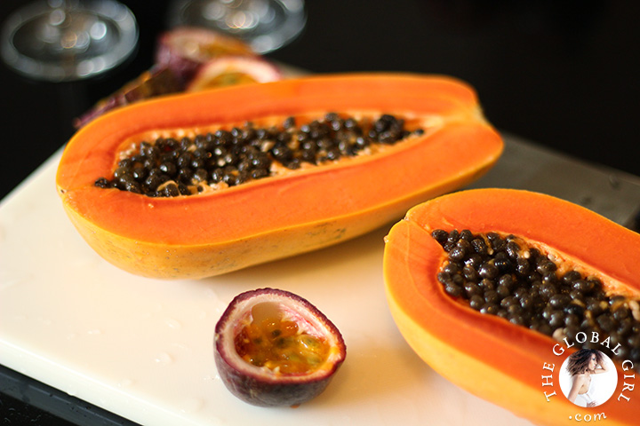 A Peek into The Global Girl Thai Kitchen: Ripe papaya.