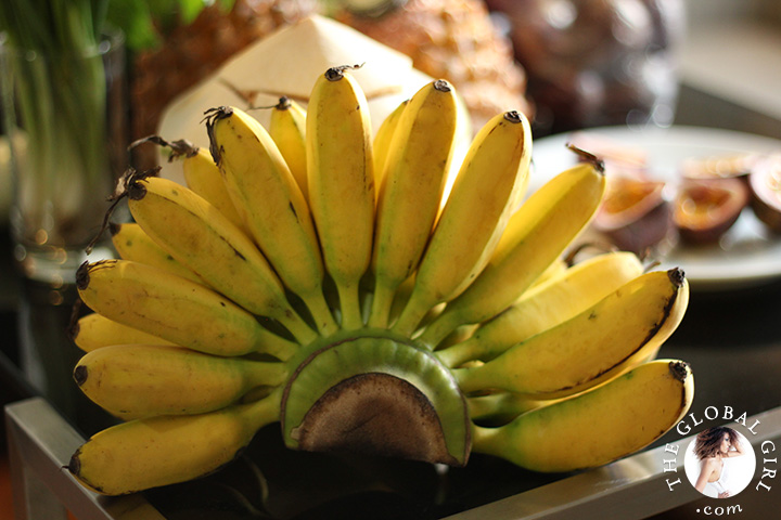 A Peek into The Global Girl Thai Kitchen: Potassium rich bananas.