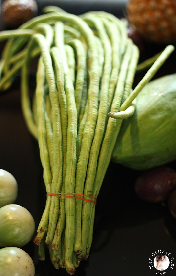 A Peek into The Global Girl Thai Kitchen: long green beans.