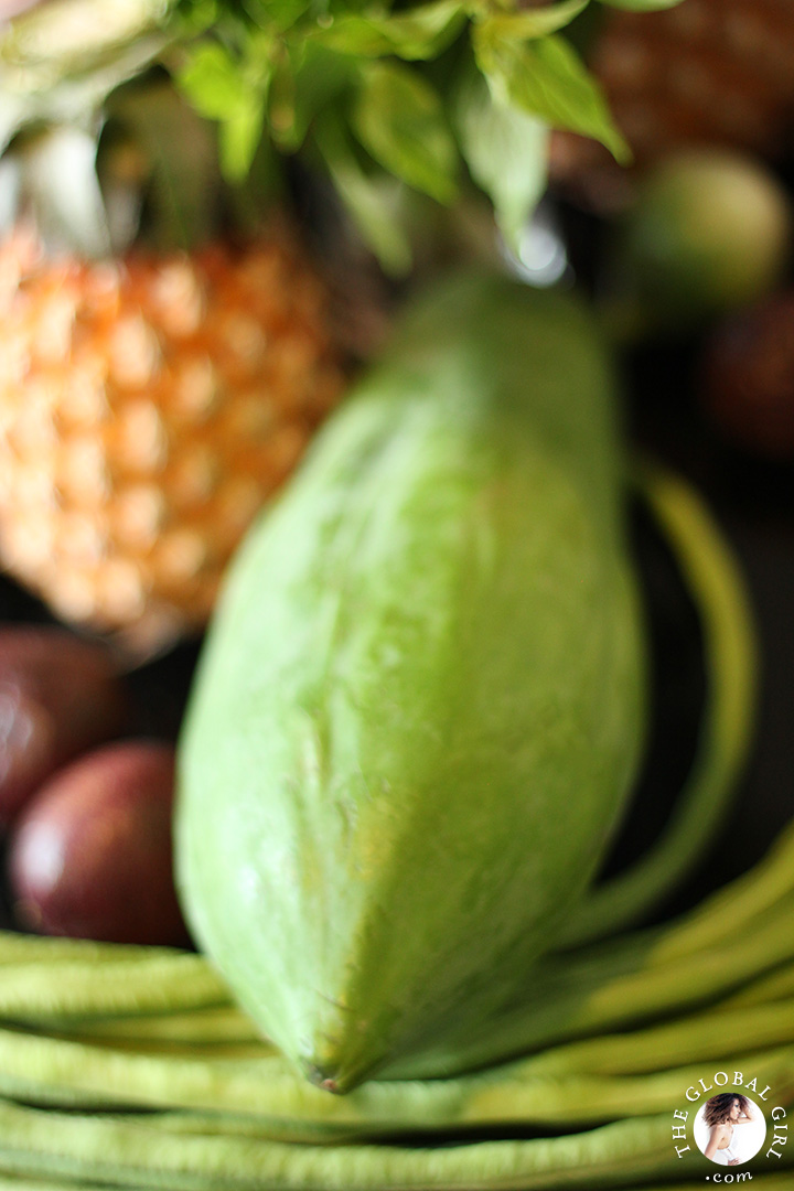A Peek into The Global Girl Thai Kitchen: Green papaya.