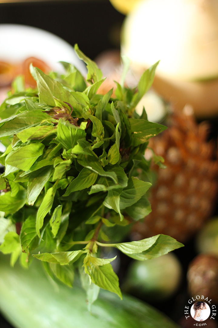 A Peek into The Global Girl Thai Kitchen: Thai basil.