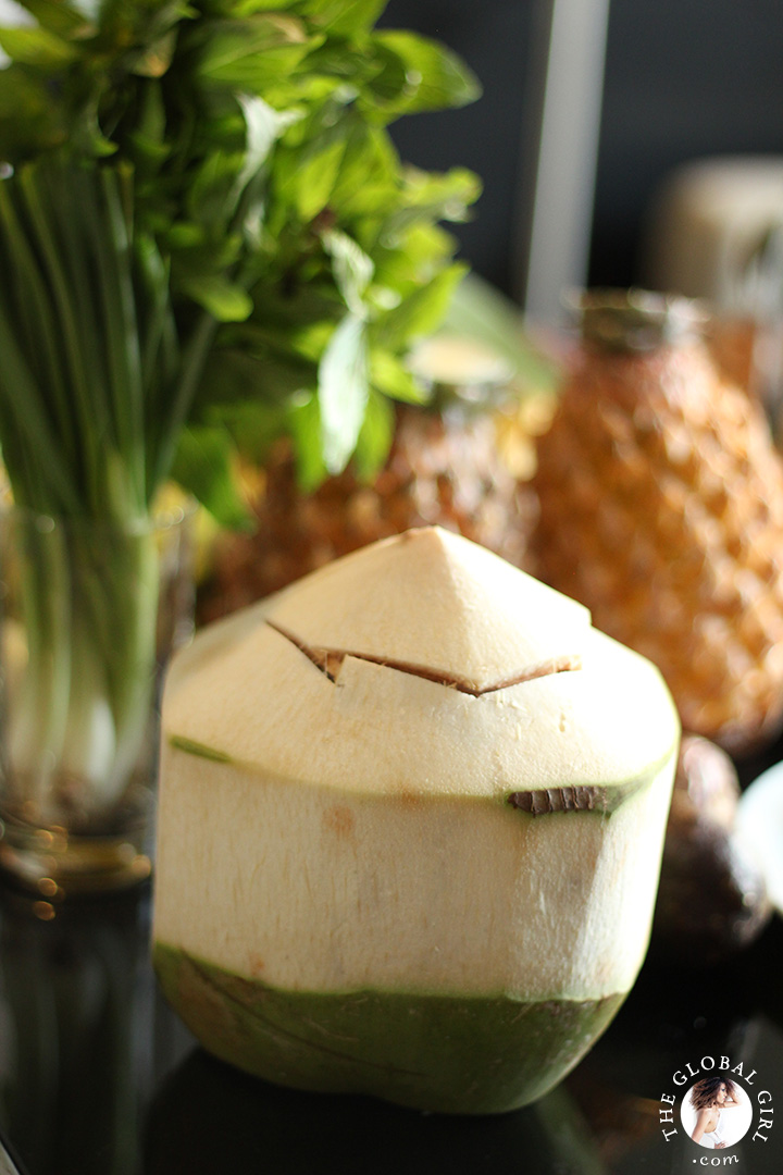 A Peek into The Global Girl Thai Kitchen: Super nutritious and antioxidant rich Young Thai coconut.