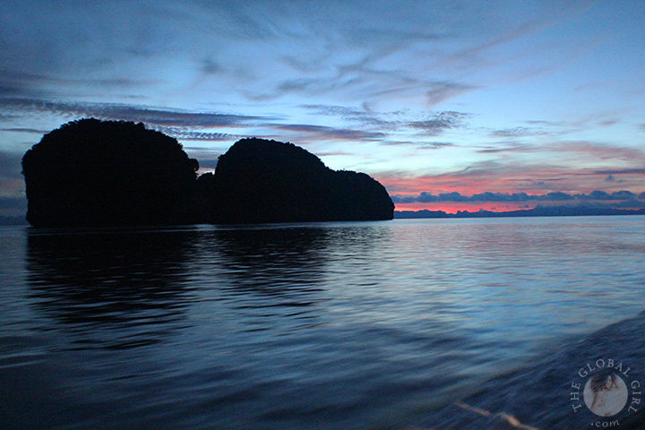 The Global Girl Travels: Spectacular sunrise on the Andaman Sea.