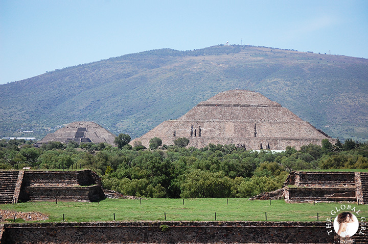 The Global Girl Travels: Temple of Quetzalcoatl, Feathered Serpent, in Teotihuacan, Mexico.