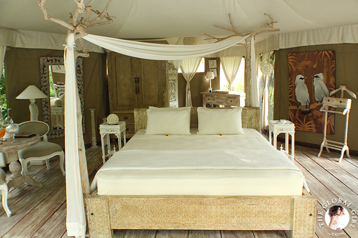 The Global Girl Travels: Glampinghub's luxury glamping safari tents in Ubud, Bali. Eco chic meets green living in Indonesia.