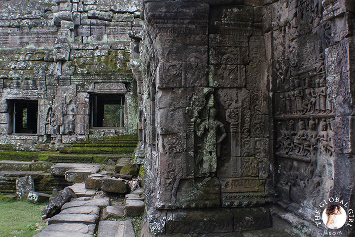 The Global Girl Travels: The ruins of Ta Prohm's jungle temple in Cambodia.