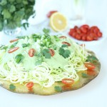 Raw Zucchini Pasta with Creamy Cashew Cilantro Sauce