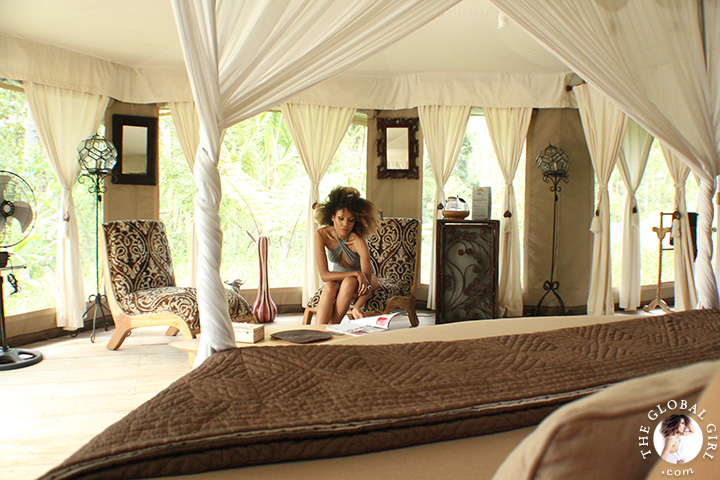The Global Girl Travels Ndoema At Tenda Penjor A Luxury Safari Themed Eco